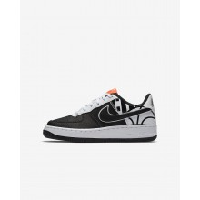 Nike Air Force 1 Lifestyle Shoes For Boys Black/White 820438-014