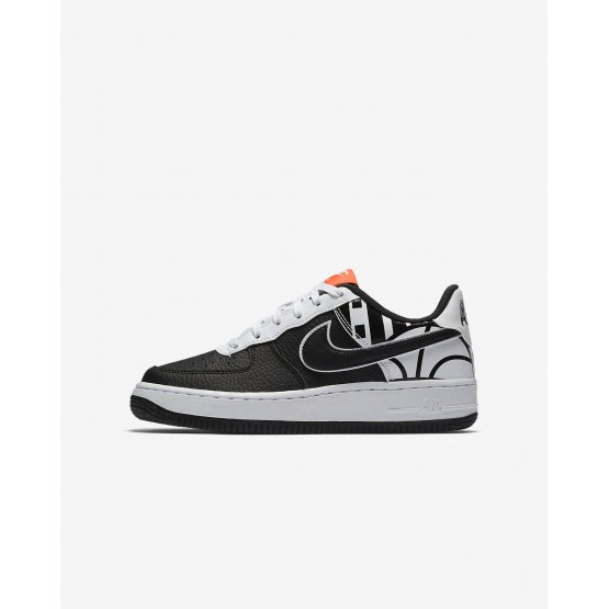Nike Air Force 1 LV8 Lifestyle Shoes Boys Black/White 820438-014