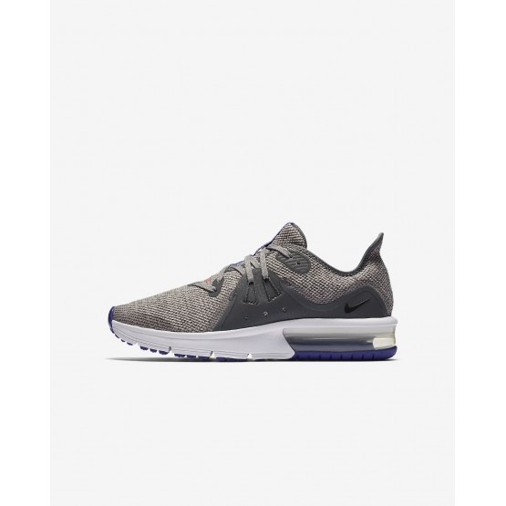 Nike Air Max Sequent 3 Running Shoes Boys Dark Grey/Moon Particle/Persian Violet/Black 922884-004