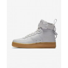 Nike SF Air Force 1 Mid Lifestyle Shoes Womens Vast Grey/Gum Light Brown AA3966-005