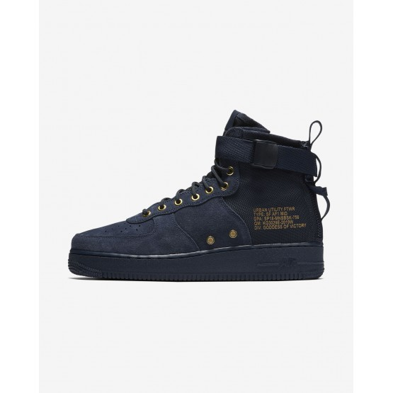 Nike SF Air Force 1 Mid Lifestyle Shoes Mens Obsidian/Black 917753-400