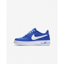 Nike Air Force 1 LV8 NBA Lifestyle Shoes Boys Game Royal/White 820438-403