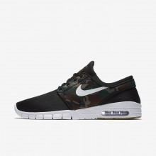 Nike SB Stefan Janoski Max Skateboarding Shoes Mens Black/Medium Olive/Gum Light Brown/White 631303-021