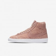 Chaussure Casual Nike Blazer Mid SE Fille Corail/Marron Clair/Blanche/Rose 902772-601