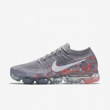 Nike Air VaporMax Running Shoes For Women Atmosphere Grey/White/Hot Punch AH8448-001