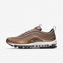 Nike Air Max 97 Lifestyle Shoes Mens Desert Dust/Metallic Red Bronze/Black/White 921826-200