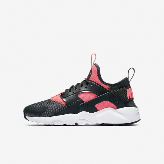 Nike Air Huarache Ultra Lifestyle Shoes Boys Anthracite/White/Hot Punch 847568-007