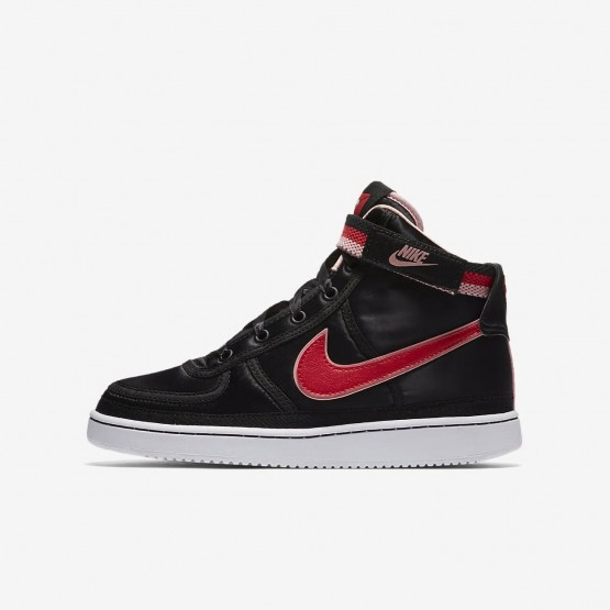Nike Vandal High Supreme QS Lifestyle Shoes Girls Black/Bleached Coral/White/Speed Red AQ3713-001
