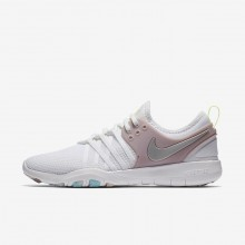 Chaussure De Sport Nike Free TR7 Femme Blanche/Rose/Metal Argent 904651-102