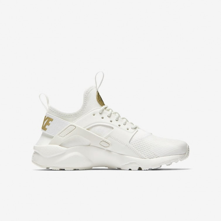 720d35735507 ... Nike Air Huarache Ultra Lifestyle Shoes Boys Summit White Metallic Gold  Star 847568-102 ...