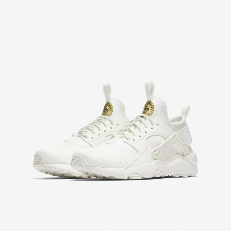 84e476838df7 ... Nike Air Huarache Ultra Lifestyle Shoes Boys Summit White Metallic Gold  Star 847568-102