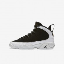 Nike Air Jordan 9 Lifestyle Shoes For Boys Black/Summit White/Metallic Gold 302359-021