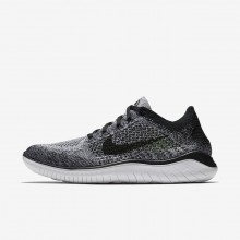 Nike Free RN Flyknit 2018 Running Shoes Mens White/Black 942838-101