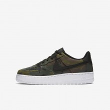 Nike Air Force 1 Lifestyle Shoes For Boys Medium Olive/Baroque Brown/Sequoia/Black 820438-204