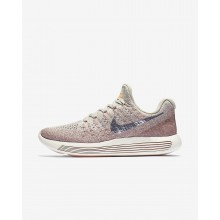 Nike LunarEpic Low Flyknit 2 Running Shoes Womens Pale Grey/Sunset Glow/Taupe Grey/Metallic Silver 863780-005