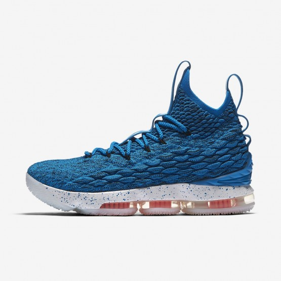 Nike LeBron 15 Basketball Shoes Womens Photo Blue/Total Orange/Summit White 897648-400