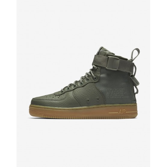Nike SF Air Force 1 Mid Lifestyle Shoes Womens Dark Stucco/Gum Light Brown AA3966-004