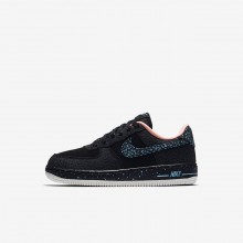 Nike Air Force 1 Lifestyle Shoes For Boys Black/Crimson Pulse/Summit White/Lagoon Pulse AJ4675-002