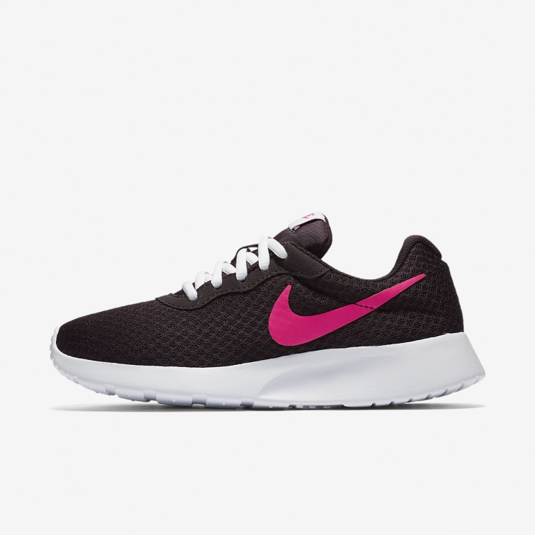 9622e319df1 Nike Tanjun Lifestyle Shoes Womens Port Wine White Deadly Pink 812655-603