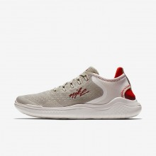Nike Free RN 2018 Running Shoes Womens Moon Particle/Phantom/Habanero Red/Team Red AJ3826-200