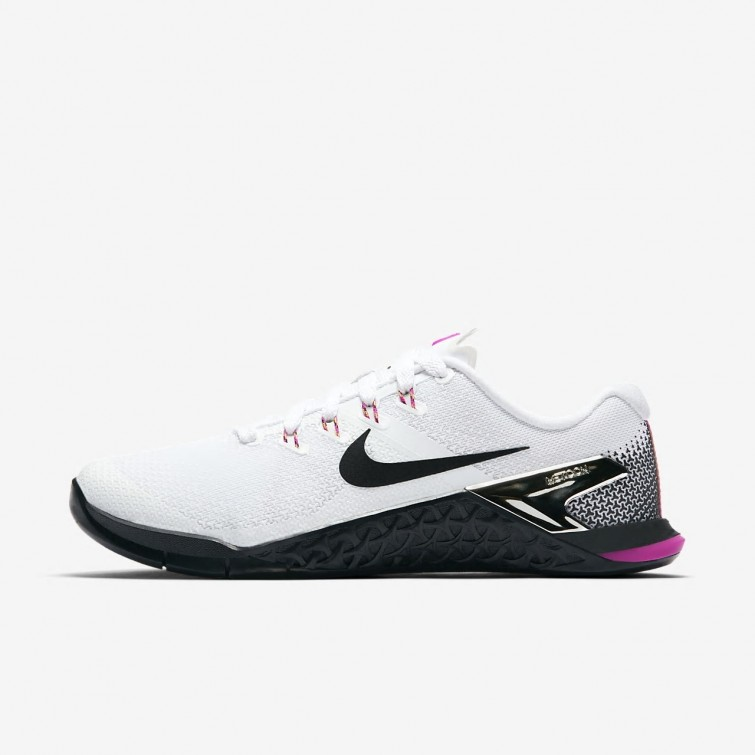 b1e56511b43a Nike Metcon 4 Training Shoes Womens White Fuchsia Blast Laser Orange Black  924593