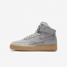Nike Air Force 1 High WB Lifestyle Shoes Boys Medium Grey/Black/Gum Light Brown 922066-002