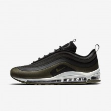 Nike Air Max 97 Lifestyle Shoes For Men Black/Medium Olive/Light Pumice/Dark Hazel AH9945-001