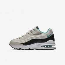 Nike Air Max 95 Lifestyle Shoes For Boys Light Bone/Black/White/Sport Turquoise 905348-012