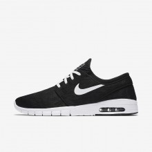 Nike SB Stefan Janoski Max Skateboarding Shoes Mens Black/White 631303-010