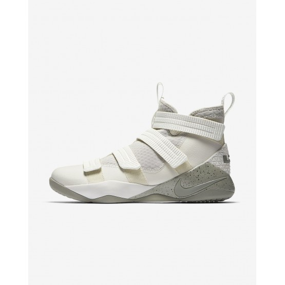 Nike LeBron Soldier XI SFG Basketball Shoes Womens Light Bone/Black/Total Crimson/Dark Stucco 897646-005