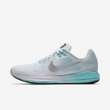 Nike Air Zoom Running Shoes For Women White/Glacier Blue/Polarized Blue/Metallic Silver 904701-104