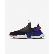 Nike Air Huarache Drift Premium Lifestyle Shoes Mens Black/Rush Orange/Lagoon Pulse/Rush Violet AH7335-002