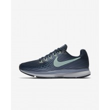 Nike Air Zoom Pegasus 34 Running Shoes Womens Armory Navy/Glacier Grey/Black/Mint Foam 880560-405