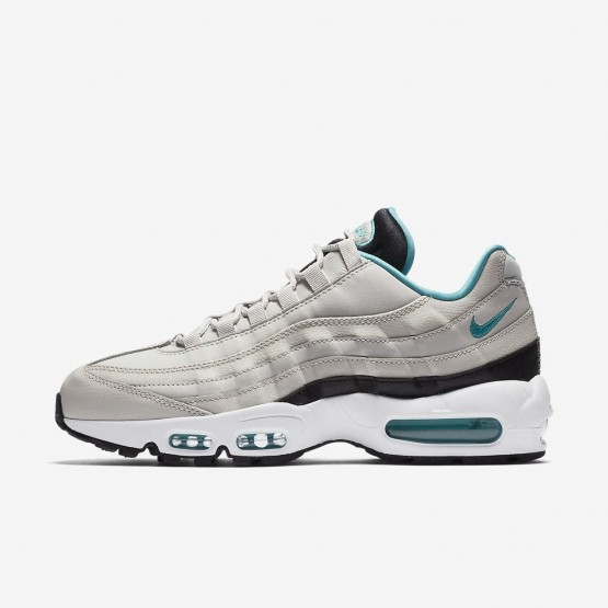 Nike Air Max 95 Essential Lifestyle Shoes Mens Light Bone/Black/White/Sport Turquoise 749766-027