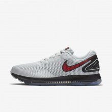 Chaussure Running Nike Zoom All Out Low 2 Homme Platine/Noir/Rouge AJ0035-006