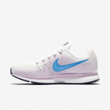 Nike Air Zoom Pegasus 34 Running Shoes Womens Summit White/Elemental Rose/Thunder Blue/Equator Blue 880560-105