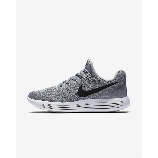 Chaussure Running Nike LunarEpic Low Flyknit 2 Femme Grise/Grise/Platine/Noir 863780-002