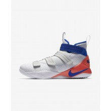 Nike LeBron Soldier XI SFG Basketball Shoes Womens White/Infrared/Pure Platinum/Racer Blue 897646-101
