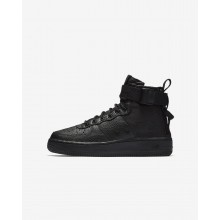 Nike SF Air Force 1 Lifestyle Shoes For Boys Black AJ0424-003