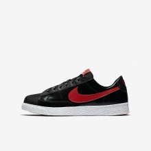 Nike Blazer Low QS Lifestyle Shoes Girls Black/Bleached Coral/Speed Red AO1033-001