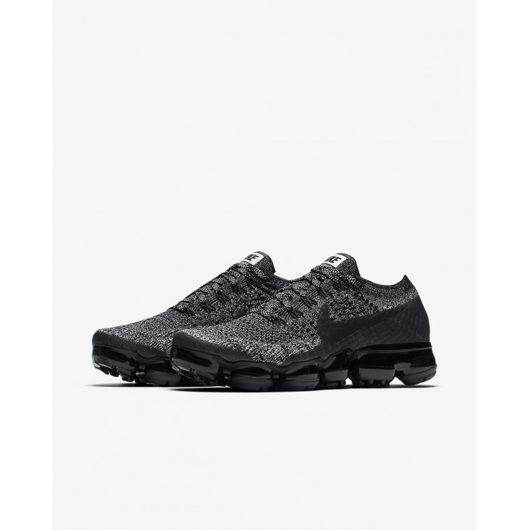 buy popular 8587f 5288a ... Nike Air VaporMax Flyknit Running Shoes Womens Black White Racer Blue  849557-041
