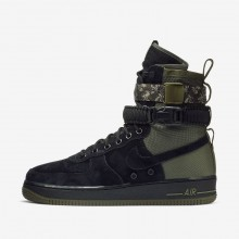 Chaussure Casual Nike SF Air Force 1 Homme Noir/Vert Olive/Vert Olive 864024-004