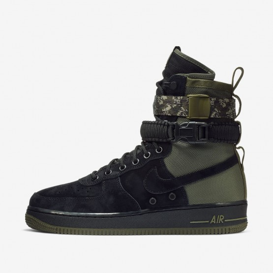 Nike SF Air Force 1 Lifestyle Shoes Mens Black/Medium Olive/Neutral Olive 864024-004