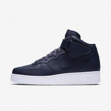 Nike Air Force 1 Mid 07 Lifestyle Shoes Mens Obsidian/White 315123-415