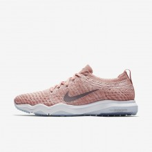 Nike Air Zoom Fearless Flyknit Lux Training Shoes Womens Rust Pink/White/Gunsmoke 922872-601