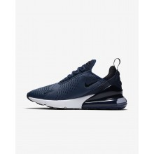 Nike Air Max 270 Lifestyle Shoes Mens Midnight Navy/White/Black AH8050-400