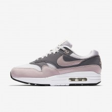 Nike Air Max 1 Lifestyle Shoes Womens Vast Grey/Gunsmoke/Black/Particle Rose 319986-032