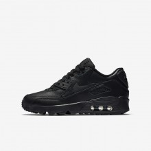 Chaussure Casual Nike Air Max 90 Leather Garcon Noir 833412-001