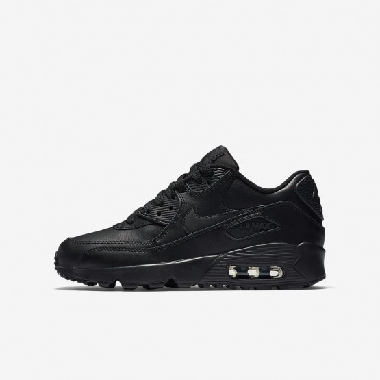 Nike Air Max 90 Leather Lifestyle Shoes Boys Black 833412-001