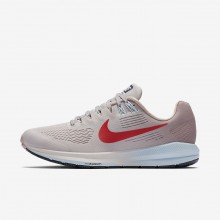 Nike Air Zoom Running Shoes For Women Vast Grey/Elemental Rose/Cobalt Tint/Habanero Red 904701-006